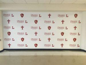Boston Church Signs custom wall vinyl step repeat mural 300x225